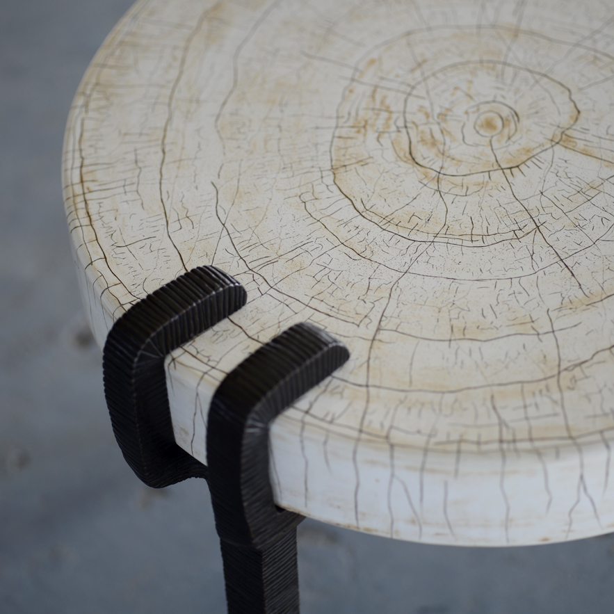Alexander Lamont jewellery inspired Vespers low table in gesso and bronze