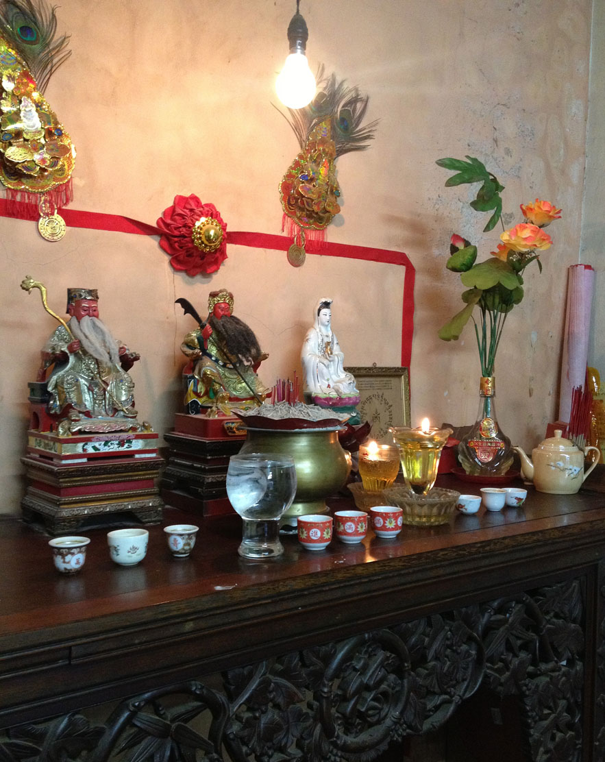 Altar in Straits-Chinese home taken in Malacca by Alexander Lamont