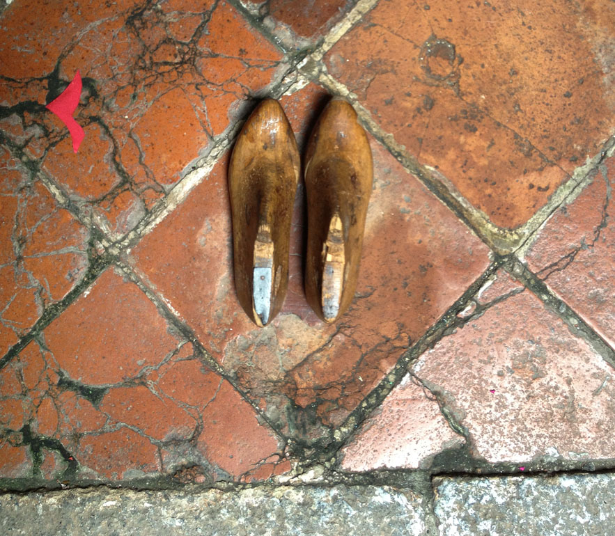 Lasts for beaded shoes photo taken in Malacca by Alexander Lamont