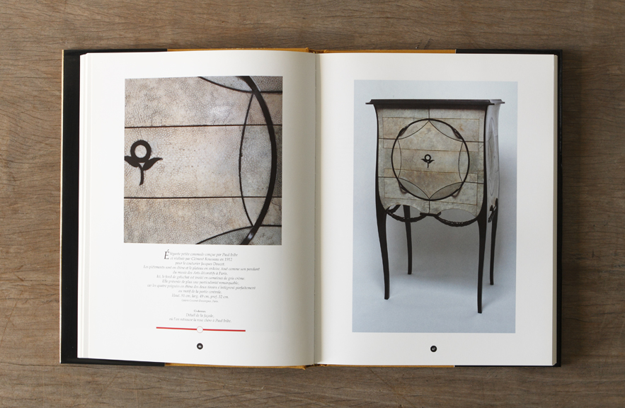 Galuchat book by Jean Perfettini image of chest of drawers by Clement Rousseau