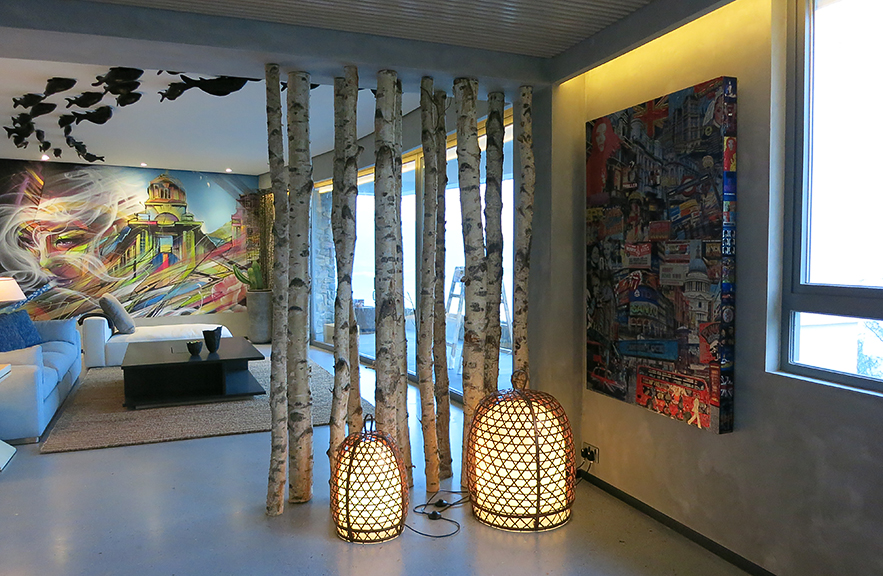 Alexander Lamont floor lamps private residence Hong Kong