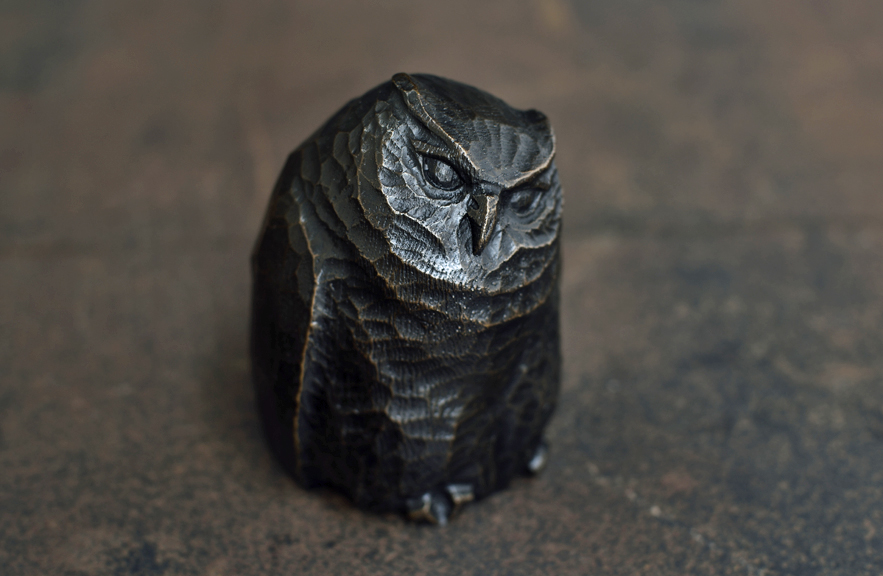 Bronze Owl Sculpture by Alexander Lamont