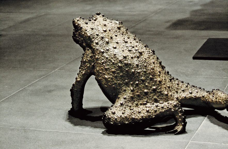 Toad Sculpture in Lost Wax Bronze by Alexander Lamont