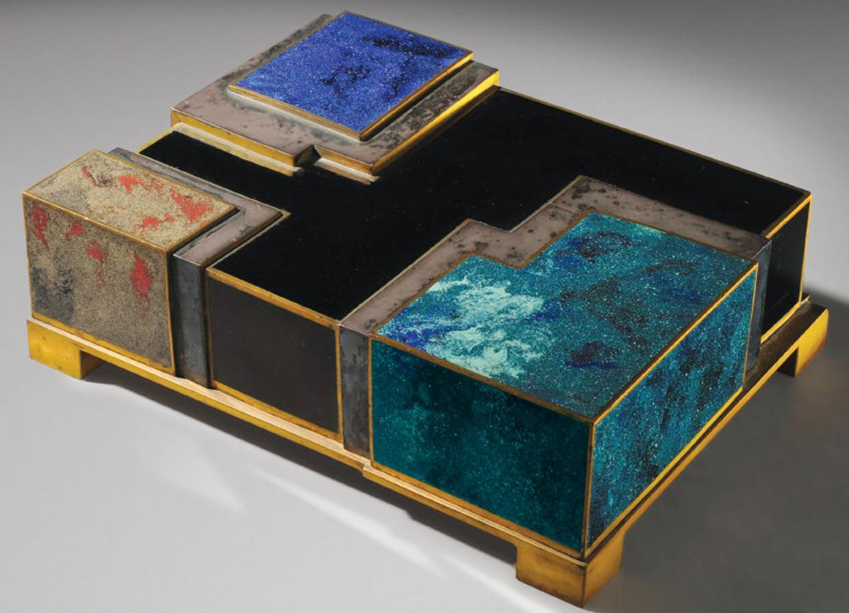 Art Deco box by Jean Dunand and Jean Goulden