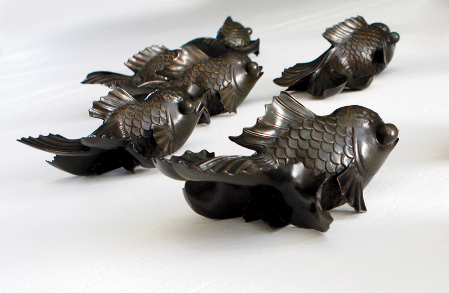 Bronze Gold Fish Sculpture by Alexander Lamont Editions 2015
