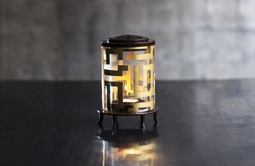 alexander lamont scholars gift collection bronze gold leaf rock crystal essay lantern