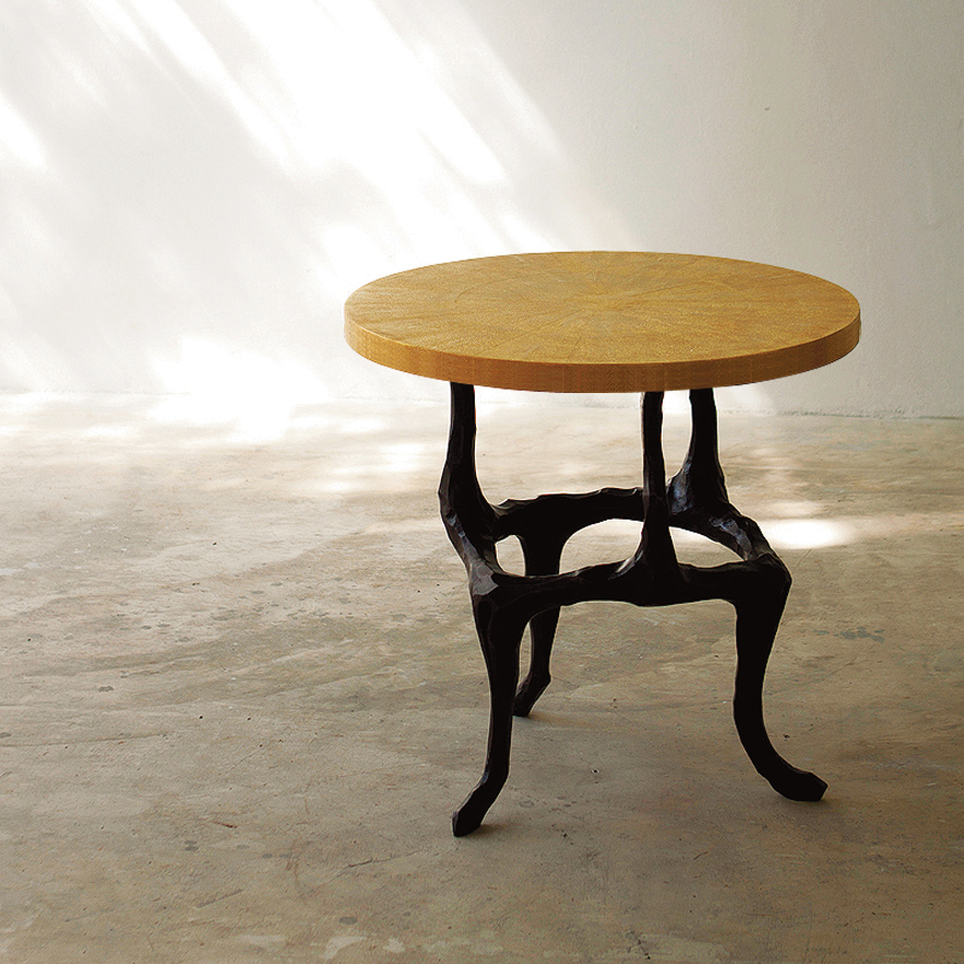 Alexander Lamont Bronze Shagreen Amaranth Table