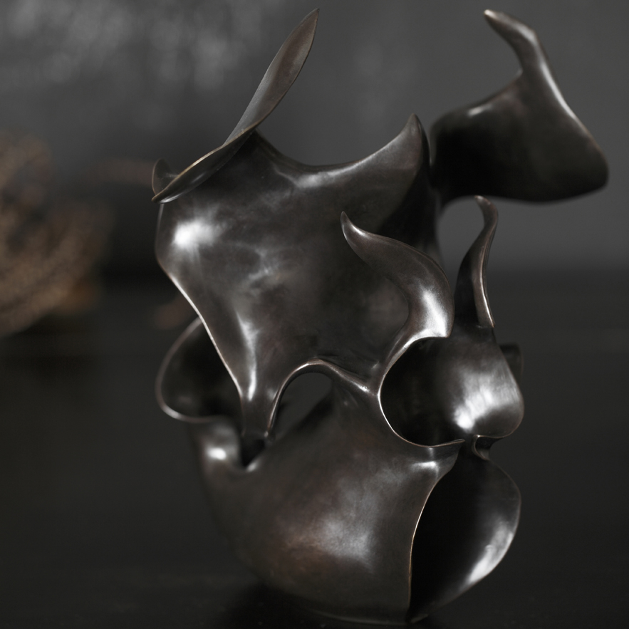 Alexander Lamont bronze vessel from Black Orchid collection