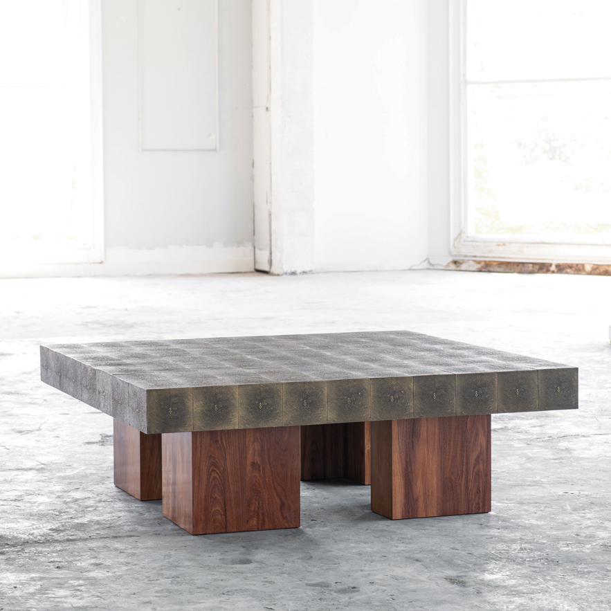 Alexander Lamont Mighty Table with bronzed shagreen surface