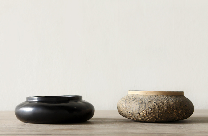 Alexander Lamont  Ripple Bowls made from Burmese Shan baskets and natural lacquer