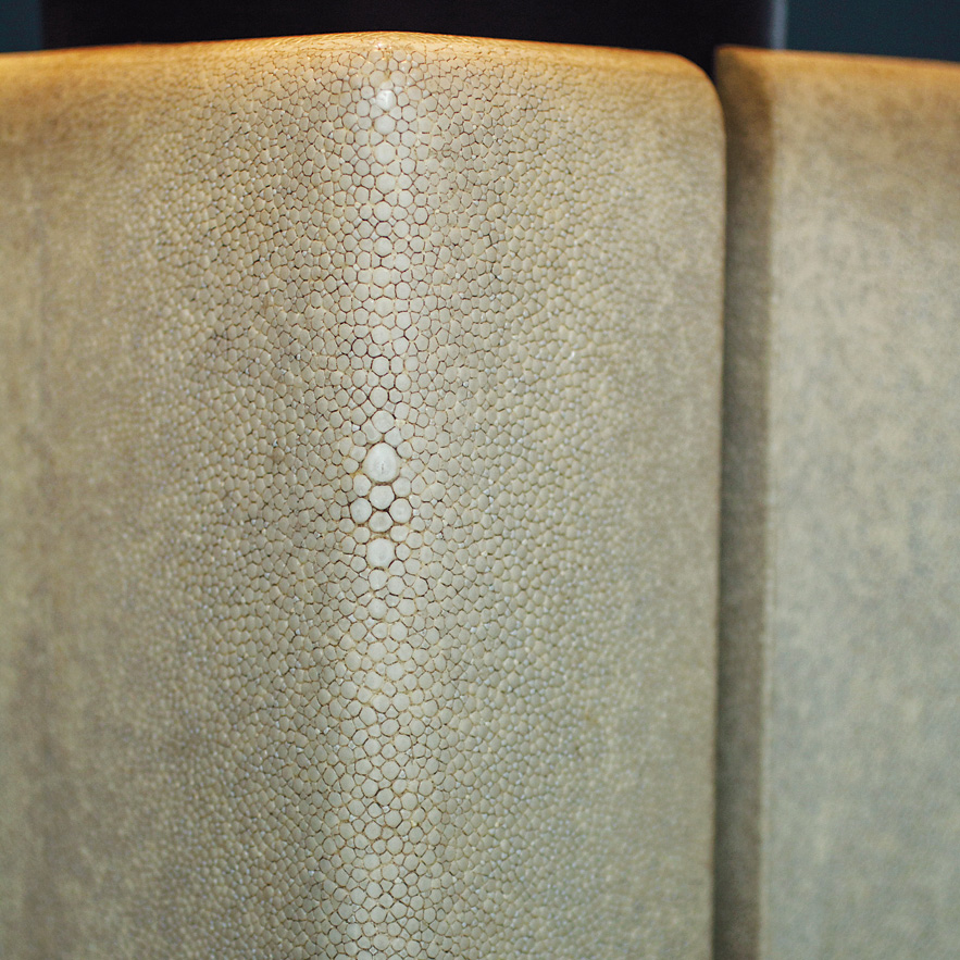 Alexander Lamont Canister Lamp close up of shagreen