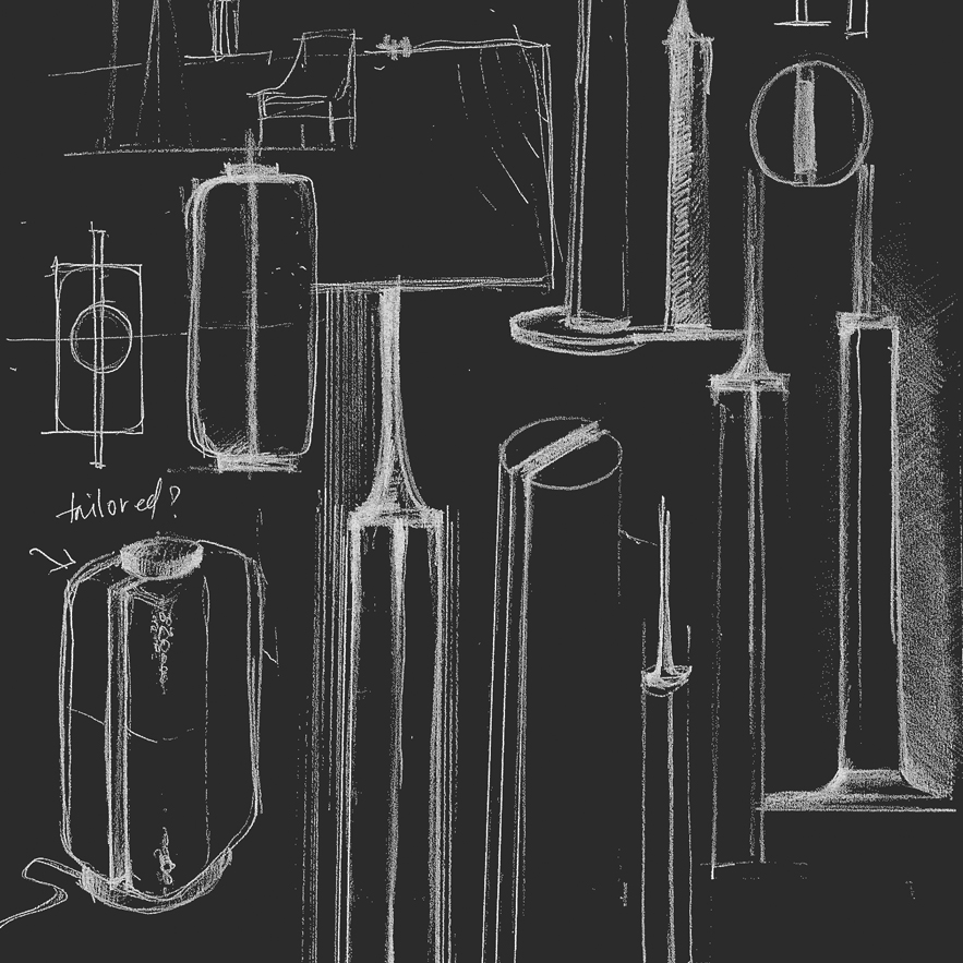 Alexander Lamont lamp sketches