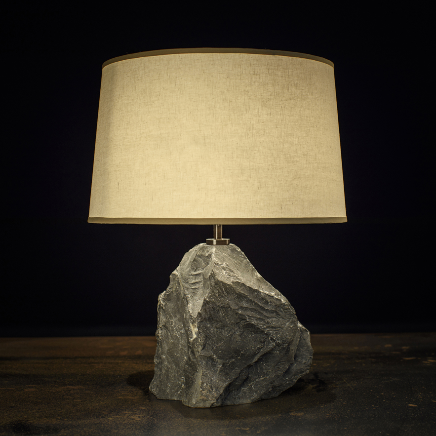 Alexander Lamont rock Cornice Lamp in black marble