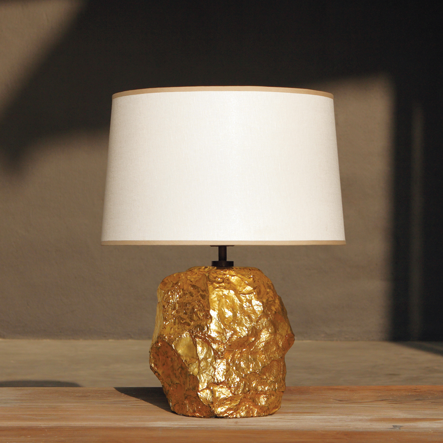 Alexander Lamont rock Cornice Lamp with gold leaf