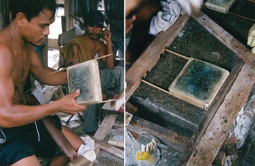 Gold leaf workshop Thailand photo by Alexander Lamont