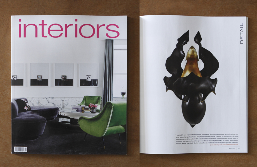 Alexander Lamont press Interiors magazine Dec/Jan15