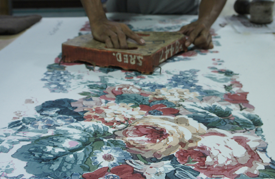 Thai textile printing photo by Alexander Lamont