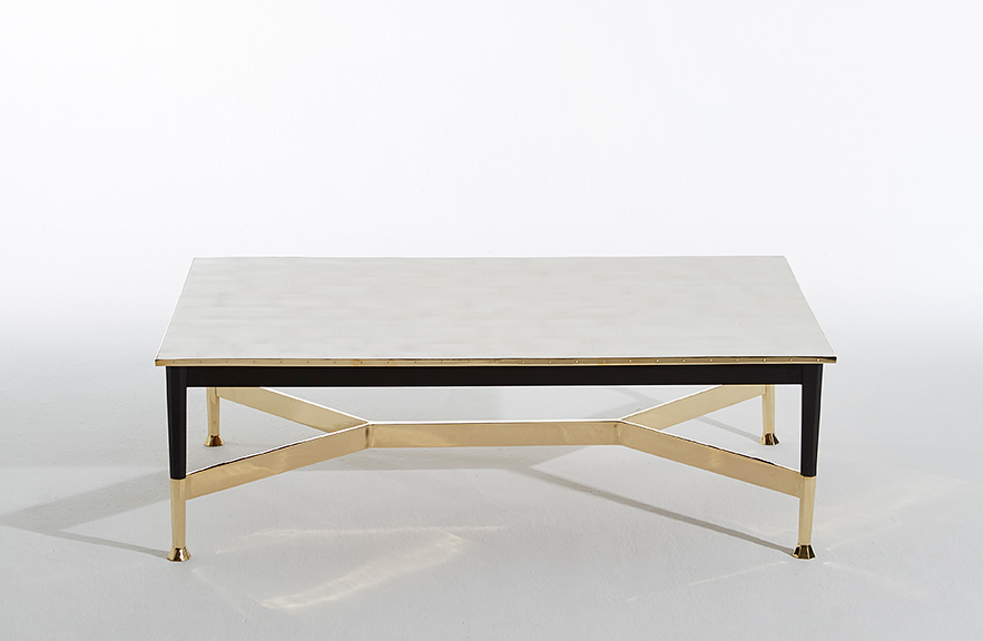 Alexander Lamont ivory shagreen coffee table