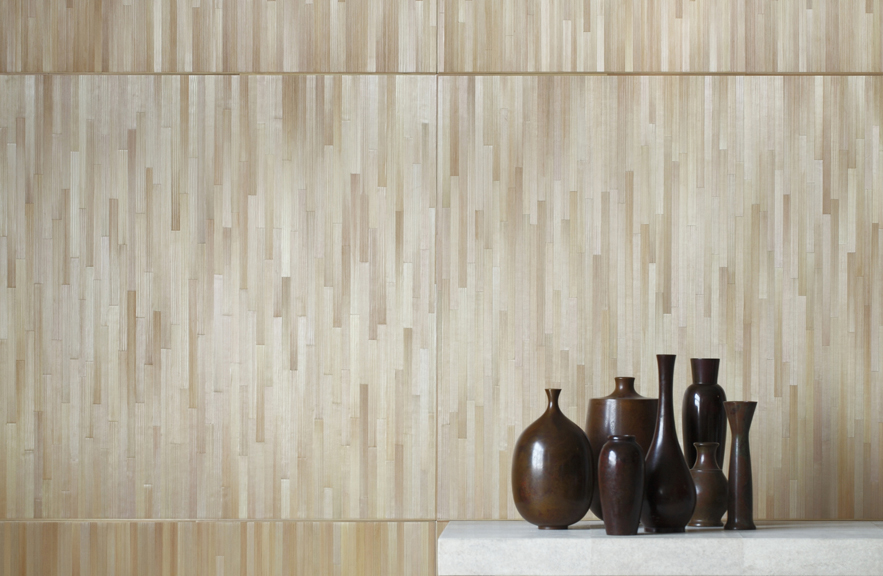 alexander lamont ligne straw marquetry wall paneling le mur