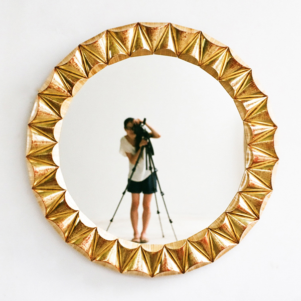 Yuna Yagi, self-portrait.  Mirror by Alexander Lamont.