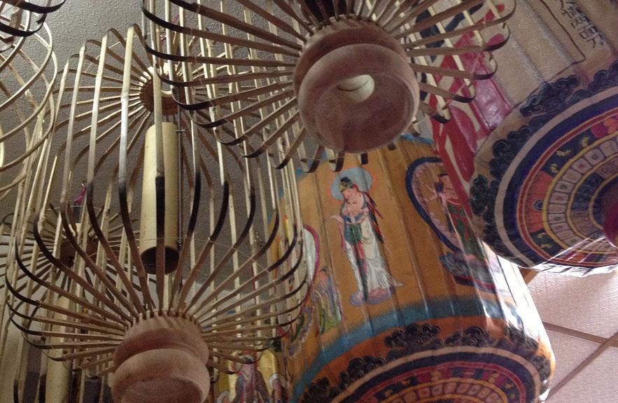 Malacca lanterns hanging to dry