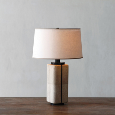 Canister Lamp in shagreen and bronze by Alexander Lamont