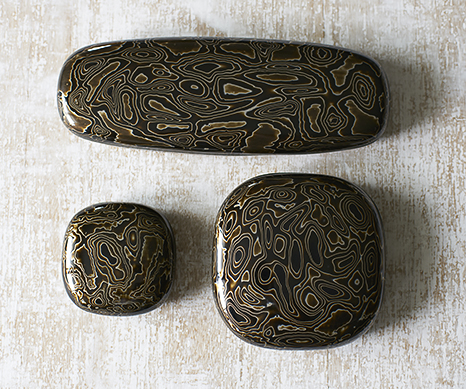 Lacquer Pebble Boxes by Alexander Lamont