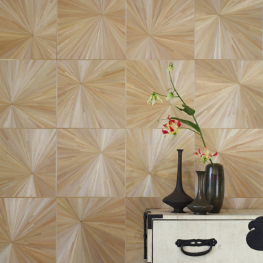 Alexander Lamont Le Mur Wall Paneling in Straw Marquetry