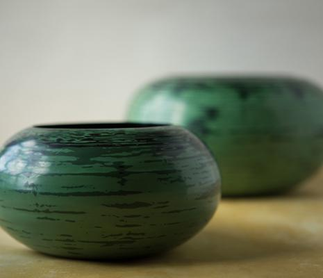 The Spin Bowls are our latest lacquerware creation. Simple yet complex; terraces of linear lines create a rounded form onto which numerous layers of lacquer are applied.