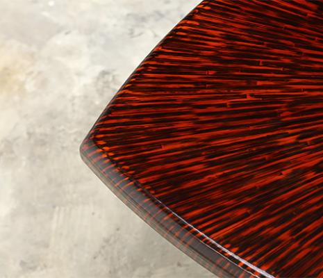 Alexander Lamont Lacquered Straw Marquetry