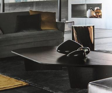 Minotti Catalogue 2017 with Alexander Lamont Black Lacquer Steamer Boxes