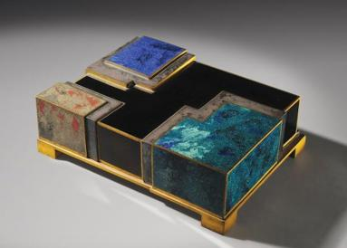 Enamel and Lacquer box by Jean Dunand and Jean Goulden one of designer Alexander Lamont's favorite Art Deco pieces