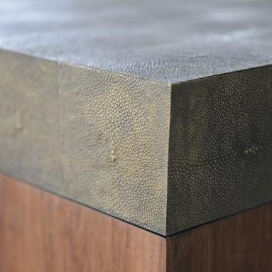 Alexander Lamont Mighty Table, bronzed shagreen and reclaimed wood