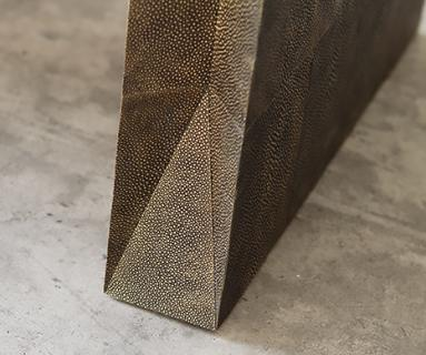 Bronzed shagreen custom project by Alexander Lamont