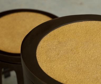 Alexander Lamont gilded sand sidetables